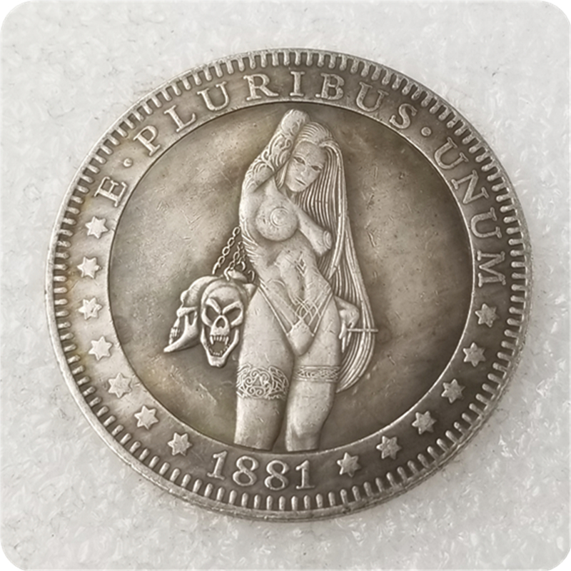 Sexy girl Morgan Dollar Hobo Nickel Coin COPY COIN-replica commemorative coins(China)