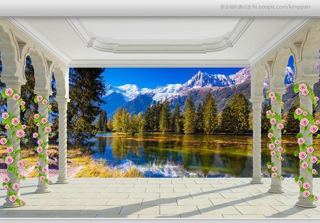 Benutzerdefinierte 3D Stereoscopic Painting Wallpaper Wände Wald