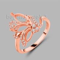 18 k золото 750 ювелирные изделия Semi Mount Установка кольцо для подарка на день рождения 37TOU SR00133
