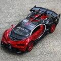 Nueva colección modelo cars bugatti modelo de coche 1:32 aleación diecast tire hacia Atrás Coche Electrónica Con Luz y Sonido de la Navidad niños regalo