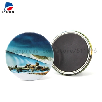 Free shipping 100pcs customized products 58mm badge magnetic accept OEM order