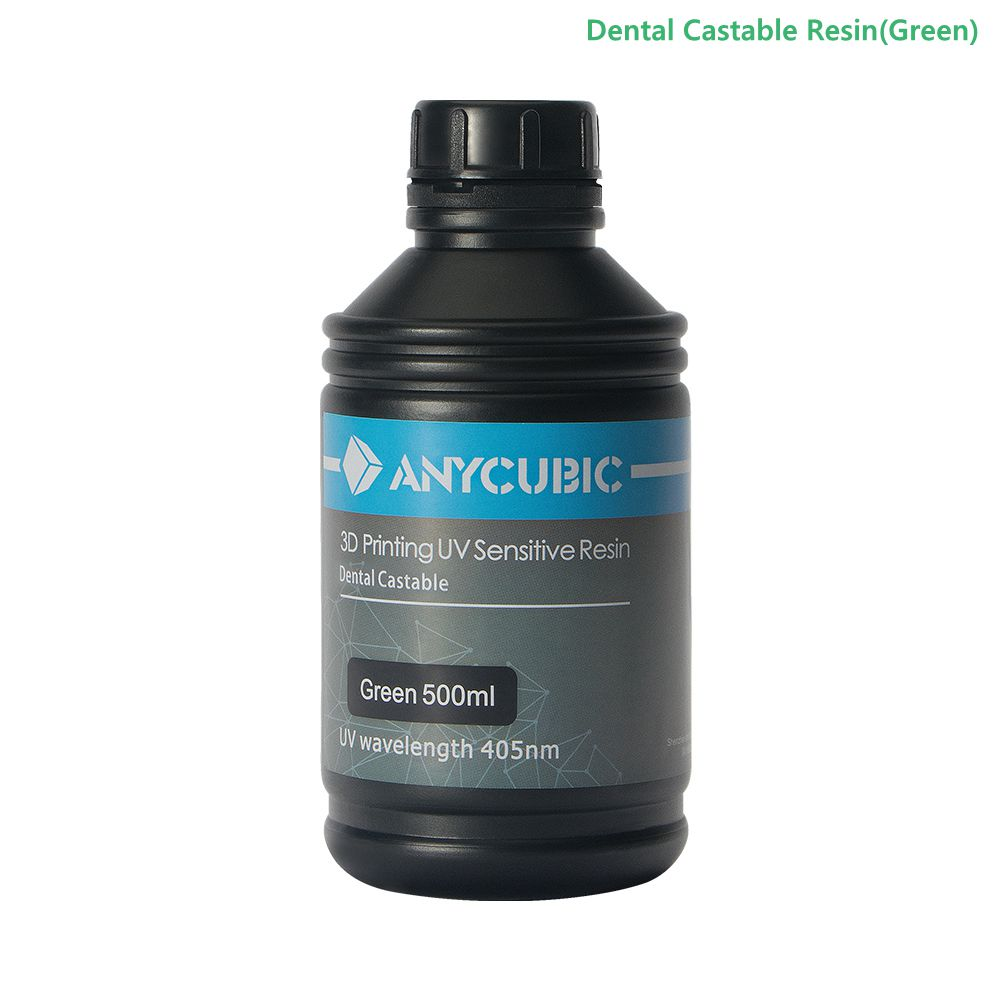 ANYCUBIC 405nm 500ML Dental Castable Non Castable UV Resin For 3D Printer Photon Impressora Printing Material