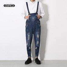 Mens jeans Jumpsuit Fashion casual denim bib Overalls Male Cool Overalls Harem Pants Hip-Hop Trousers Solid Color Jumpsuit Q202