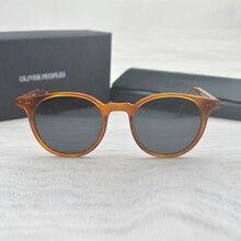 Moda Óculos Redondos Óculos Oliver Peoples Delray OV5318 Oval Óculos de Sol  Do Vintage Feminino Masculino Óculos De Sol Da Marca. 70a0f7b9d9