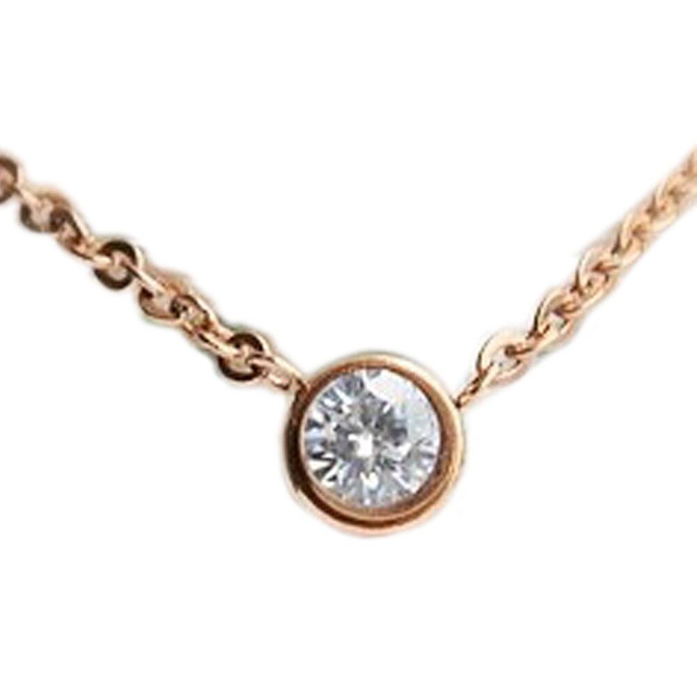 Fashion Small Fresh Temperament Single Imitation  Rose Gold Color Short Clavicle Chain Jewelry New Arrival