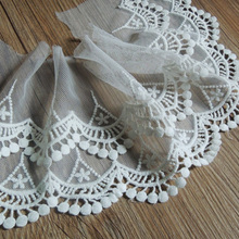 Embroidery Tulle Lace Fabric 14cm White Lace Ribbon Sarees Wedding Sewing Access
