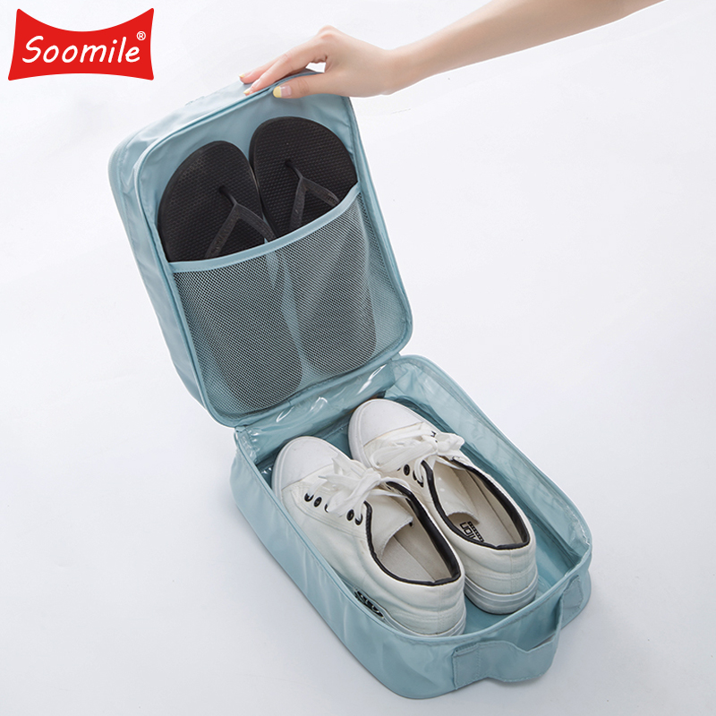 Soomile Travel Shoe Bag 2018 New Waterproof Women unisex Shoe Bags Fashion High capacity multilayer Shoe Organizer Pouch