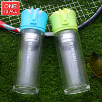 ONE IS ALL 300ML Glass Water Bottle Sport My Water Tumbler With Stainless Steel Tea Infuser