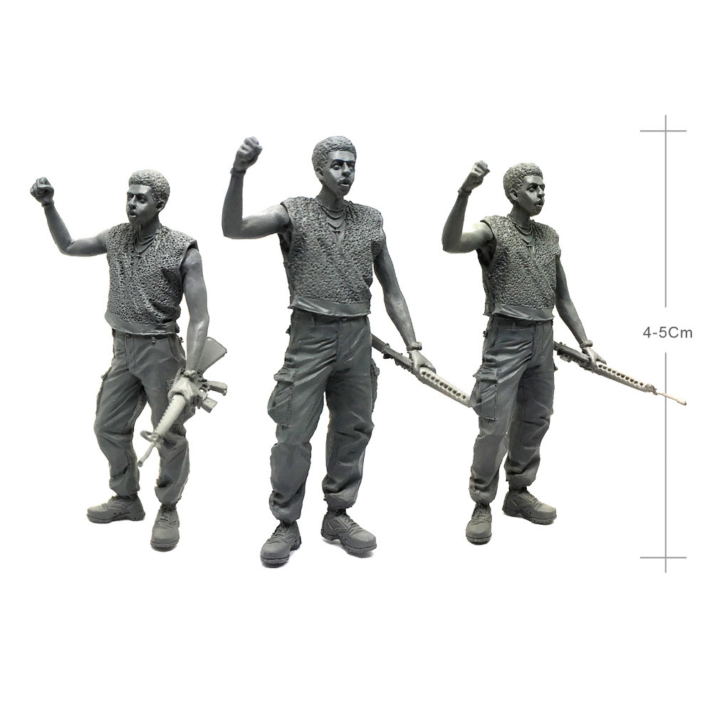 1/35 Modern U.S Navy Seals Marines Black Military Soldier Resin Model Figure UU-08