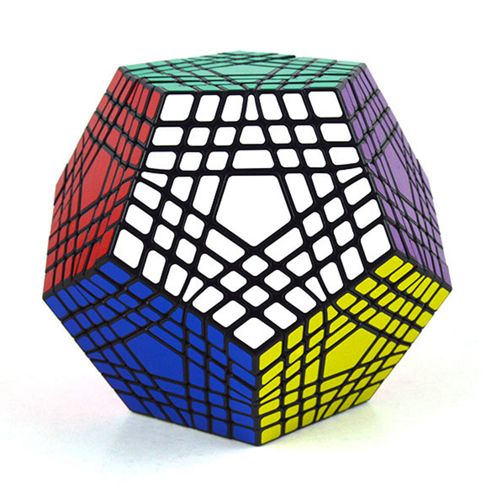 Shengshou 7x7x7 46mm Megaminx Speed Magic Cube Puzzle Game Cubes Educational Toys for Kids Children Birthday Gift verrypuzzle clover dodecahedron magic cube speed twisty puzzle megaminx cubes game educational toys for kids children