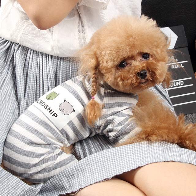 Striped Jumpsuit for Dogs 3