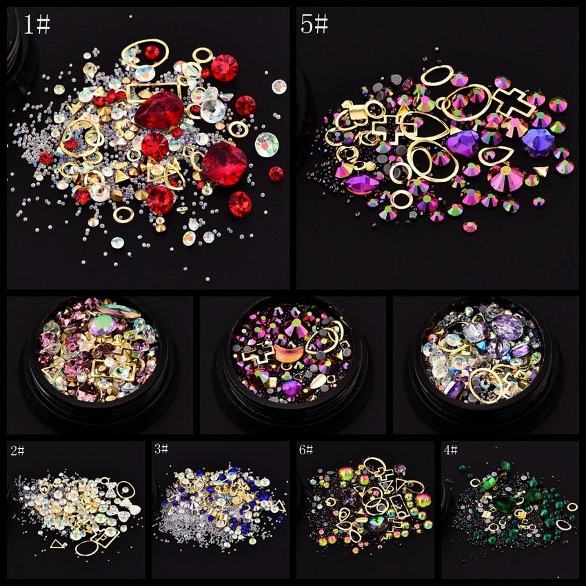 ≧1 olla multi colores mezcla formas Mix diamante cuentas caviar oro ...