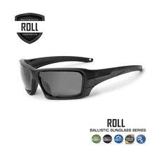 Polarized Cycling Sunglasses, Ballistic 4 Lenses Kit Military Goggles, Tactical Army Eyeshield Bb Gun Bulletproof UV400