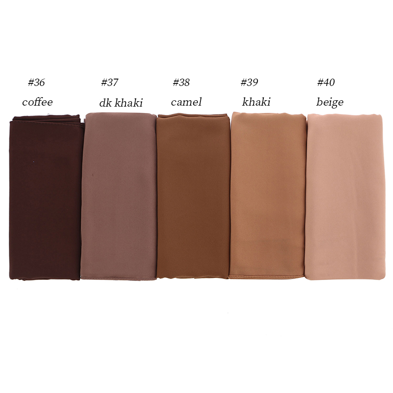 50pcs/lot Big Size High Quality Bubble Chiffon Women Muslim Hijab   Scarf   Shawl   Wrap   Solid Plain 47 Colors
