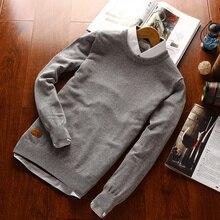 2016 männer Klassische Polo Pullover Mann Kausale Marke Langarm Baumwolle O Hals Frühling Herbst Winter Pullover Plus Size Strickwaren-strickjacke