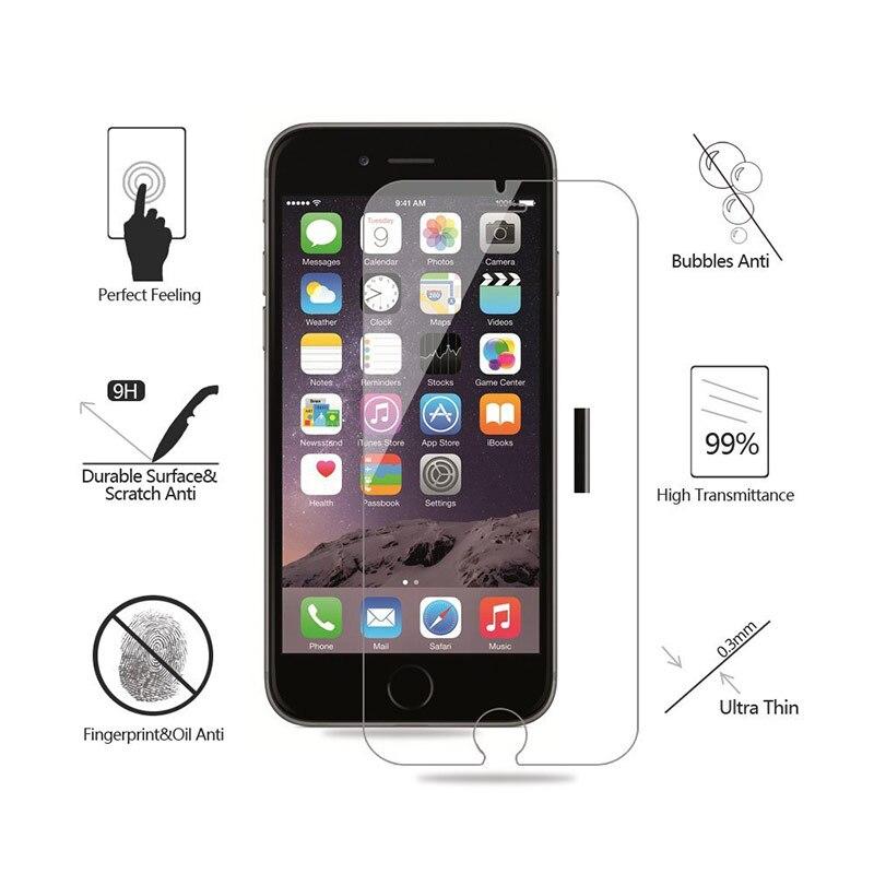 For iPhone 5 5S 6 6S 7 8 Plus X XR XS 11 Pro Max Tempered ապակե - Բջջային հեռախոսի պարագաներ և պահեստամասեր - Լուսանկար 5