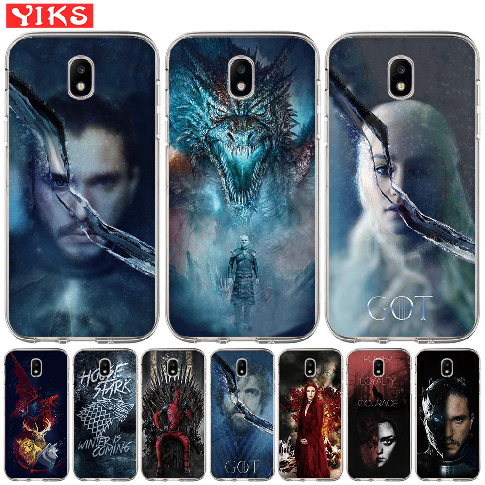 Game Thrones Got Silicone Phone Case For Samsung Galaxy J3 J5 J7 2015 2016 2017 J2 Pro J6 Prime 2018 G530 Soft Cover Etui image