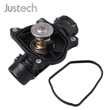 цена на Justech New Thermostat + Housing 11517805811 11517789014 For BMW E46 E90-93 E60 E61 E63 E64 X3 X5 X6