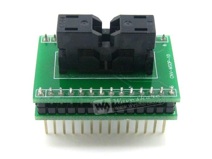 MSOP10 TO DIP10 SSOP10 TSSOP10 Wells IC Test Socket Programming Adapter 0.5mm Pitch free shipping msop 10 msop10 universal adapter for usb programmer ic adapter sockets