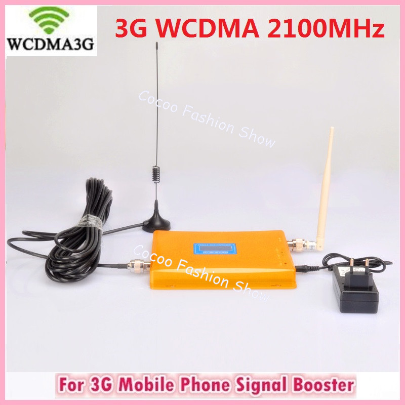 W-CDMA 3G LCD Signal booster ! GSM 2100 Mobile Phone Booster Amplifier 3G GSM Repeater Cellular Signal Booster With 3G antennaW-CDMA 3G LCD Signal booster ! GSM 2100 Mobile Phone Booster Amplifier 3G GSM Repeater Cellular Signal Booster With 3G antenna