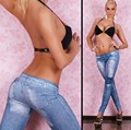 Wholesale Stylish Two Style Black/Blue Jeggings W8132 Drop Shipping Top Quality Summer Style ripped jeans Online Sales 2017