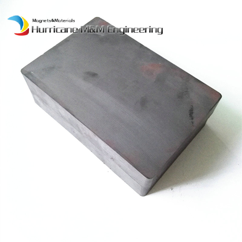 1pc Ceramic Magnet Block 100x50x25 mm Plate about 4 large grade C8 Ceramic Permanent Magnets for advertising board home use