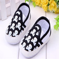 Fashion Kids Infant First Walkers Soft Bottom Skull Printed Toddler Baby Anti Slip Shoes Sport Canvas Shoes