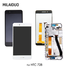 цена на LCD Display For HTC Desire 728 728G Touch Screen Digitizer Assembly Replacement Repair Parts Black White No/with Frame 5.5''