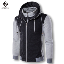 2017 Men Hooded Jackets and Coats Hoodies Zipper Men's Casual Fashion Slim Fit Assassins Creed Hoodies Gymshark Kanye Tracksuits