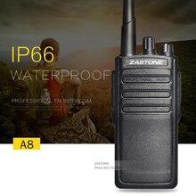Zastone A8 IP66 Walkie Talkie Waterproof 10W Ham Radio Two Way Radio Handheld HF Transceiver Portable Walkie Talkie