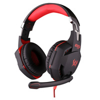 EACH G2100 Gaming Headset Stereo Bass Sound Vibration 2 2m Wired Headphone Noise Reduction Microphone LED