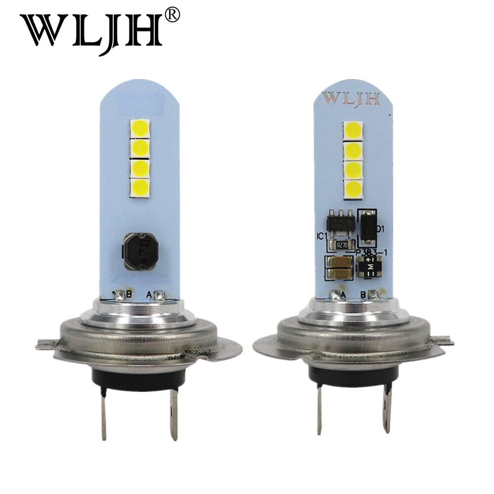2x car h7 wljh h7 conduziu a lampada luz luzes de circulacao nevoeiro driving lampada auto