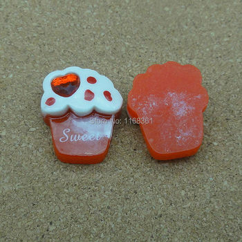 1pcs/lot resin flatback red rhinestone sweet ice 20mm Cabochons Hair Bow Center Card Frame Making Craft DIY B401-1 image