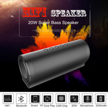 20 W Big Power Logam Speaker 5 Pcs Suara Unit Shock Bass HI FI Portabel Nirkabel Komputer Mobil Speaker Subwoofer mic(China)