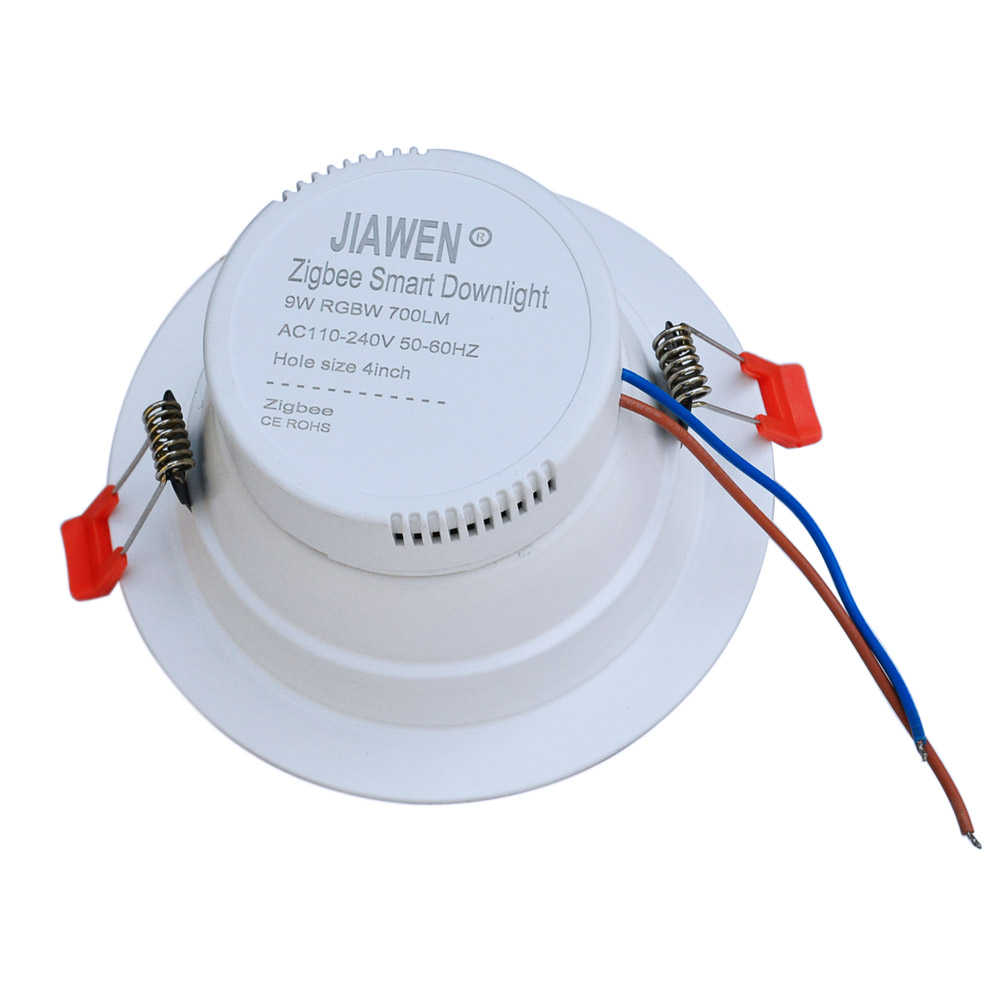 Jiawen Smart Home Zigbee Rgbw 9w Led Downlight App Control Work With Speaker Wiring Amazon Echo Plus Directly Lighting Solution In Ceiling Lights From