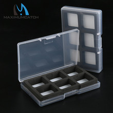 Maximumcatch 2 Pieces Fly Fishing Box 97*63*13mm 6 Magnet Compartment Small Clear Slim Hook Box Fly Box