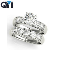 QYI 18k Gold Ring For Women Sona Diamond 1 CT Engagement ring Fine Jewelry