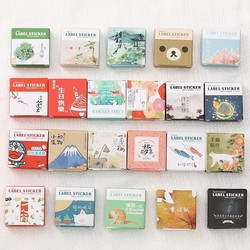 40 pçs/caixa mini papel dos desenhos animados adesivo decoração decalque diy álbum scrapbooking selo adesivo kawaii papelaria presente material escol