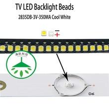 100pcs/lot new high power cool white lamp beads 3v for lcd tv repair led tv backlight strip light-diode 2835db smd цена 2017