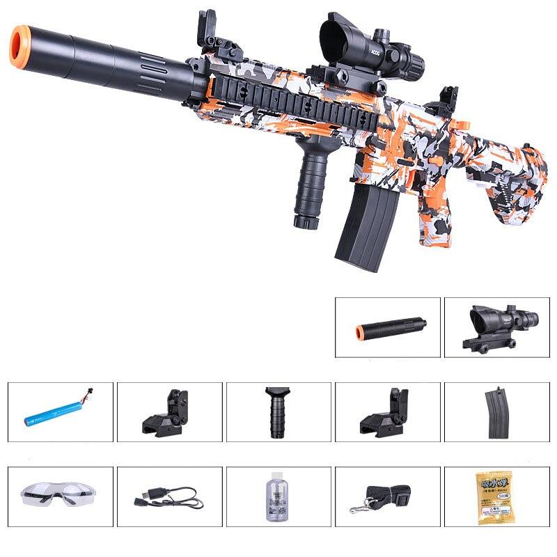 Zhenduo jouet M416 main de jouet lectric pistolet à eau Gel balle pour enfants passe-temps en plein air