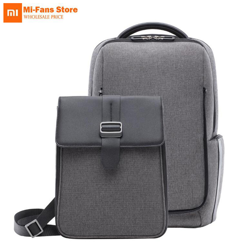 New Xiaomi Fashion Commuting Backpack Removable Front Bag Big Capacity 15.6 inch Laptop Bag Anti-water Bussiness Travel Bag