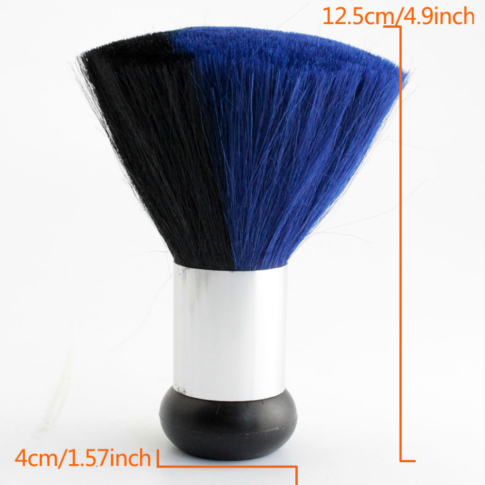 Salon Hair Cutting Neck Duster Brush For Stylist Barber Hairdresser Blue Black