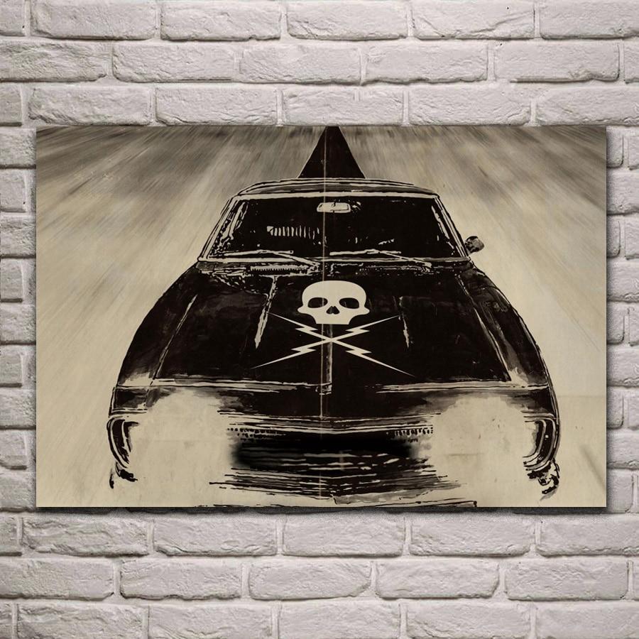 death proof quentin tarantino death proof Tarantino car fantasy living room home wall art decor wood frame fabric poster EX522