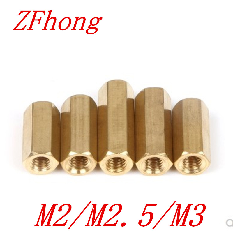 50pcs M2 M2.5 m3*4/5//6/7/8/9/10/11/12 hex brass standoff spacer female to female50pcs M2 M2.5 m3*4/5//6/7/8/9/10/11/12 hex brass standoff spacer female to female