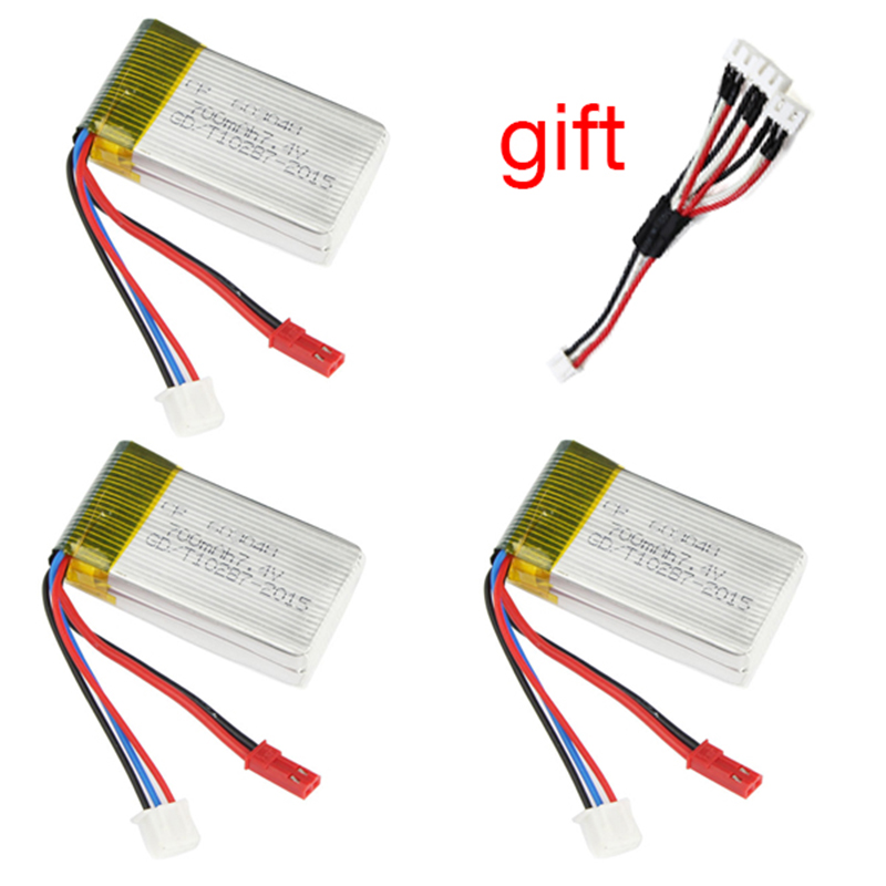 For MJX X600 WLtoys V921 7.4V 700mAh High capacity Lipo Battery Spare Parts Drone RC Quadcopter MJX Battery цена