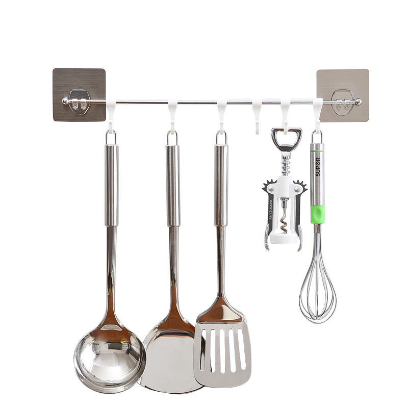 The Kitchen Hook Is Free From Perforation Suction Wall  Household Adhesive Nailing Sucker Door Hanging Hook And Sticking LU4215.
