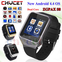 ZGPAX S8 montre Smart watch Bluetooth SmartWatch GPS Android 4.4 MTK6572 Dual Core 2.0MP Caméra WiFi Smart-montre PK Q18 hommes montres