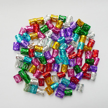50 pcs / lot #Pink #Red #Blue #Golden #Silver Mixed Dreadlock Beads Haircut laras Braids Cuff Clip 8MM Hole Micro Ring Beads