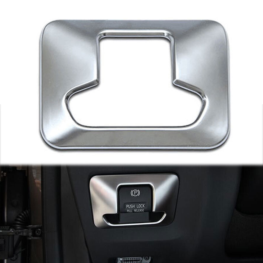 Car Electronic Auto Handbrake Hand Brake Button Panel Trim Cover Styling Sticker abs Fit for VOLVO XC60/70 V60 S60 Accessories