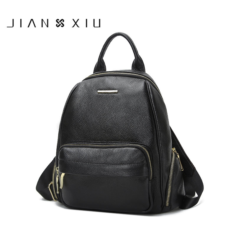 JIANXIU Genuine Leather Backpack School Bags Mochilas Mochila Feminina Bolsas Mujer Bagpack Escolar Backpacks Rugzak Back Pack backpack mochilas mochila feminina school bags women bag genuine leather backpacks travel bagpack mochilas mujer 2017 sac a dos